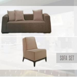 ชุดโซฟา 1 ที่นั่ง, 2 ที่นั่ง และ 3 ที่นั่ง พร้อมหมอนอิง